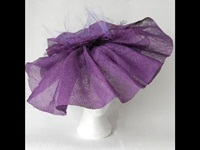 Fiona Mangan Millinery Purple Haze